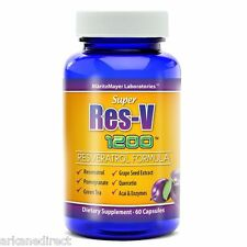 RESVERATROL 1200 mg, HIGH DOSE & POTENCY, Red Wine Extract, Detox, Anti Oxidant