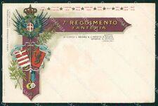 Militari VII Reggimento Fanteria Carducci cartolina XF0025