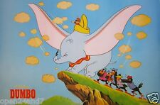 "DISNEY ""DUMBO TRYING TO FLY"" POSTER - Timothy Q. Mouse, Crows Helping Him Out"