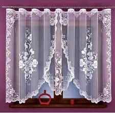 Beautiful Jacquard  Net Curtains Luxury Flower design  READY-MADE 330 cm x 150cm