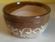 "Lovely Ceramic Flower Pot Bowl, 7 3/4"" across, New, Brown"
