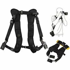 Black Double Shoulder Sling Belt Quick Strap for Fujifilm Finepix SL300 SL305
