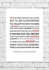 Death Cab For Cutie - I Will Follow You.... - Song Lyric Art Poster - A4 Size
