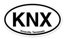 "KNX Knoxville Tennessee Oval car window bumper sticker decal 5"" x 3"""