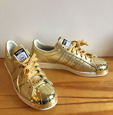 Rare Adidas Star Wars Superstar 80's Customize C-3PO Shoes Size 8 Gold NWOB