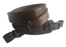 Marrone Vera Pelle Rifle Sling FUCILE ARIA PISTOLA Cinturino russo CACCIA TIRO