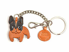 French Bulldog Handmade 3D Leather Dog Bag/Ring Charm VANCA Made in Japan 26061