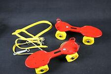 YX127  Patins à Roulettes enfants années 80 jaune et rouge