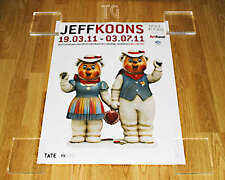 *Final Copy* Rare UNOPENED JEFF KOONS exhibition poster print art Winter Bear