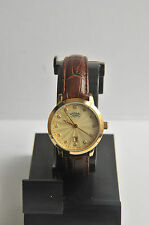 Rotary Ladies' Crystal Dial Brown Leather Strap Watch. AA-236