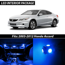 2003-2012 Honda Accord Blue Interior LED Lights Package Kit