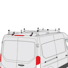 Ford Transit Cargo Van 2015-2016 3 Bar Silver Aluminum Ladder Roof Rack System