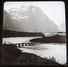 Glass Magic lantern slide LANDSCAPE AT NAES C1900 NORWAY