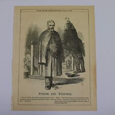 "7x10"" punch cartoon 1866 WISDOM AND WIND-BAG carlyle / bright"