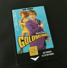 AUSTIN POWERS GOLDMEMBER FRENCH PHONE CARD