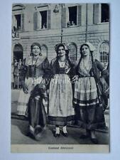 COSTUMI ABRUZZESI Abruzzo L'Aquila vecchia cartolina