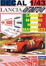 DECAL 1/43 LANCIA STRATOS HF S.MUNARI TOUR DE CORSE 1972 DnF (12)