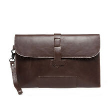 Men's HQ PU Leather Handbag Envelop Bag Clutch Briefcase Messenger Bag Wrist Bag