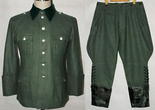 WWII GERMAN M36 OFFICER WOOL FIELD UNIFORM TUNIC & BREECHES M -32068
