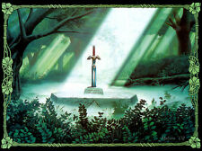 """the legend of zelda 25th anniversary Game Fabric poster 17"""" x 13"""" Decor 46"""