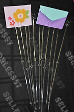 """1000 Cardettes 18"""" Slant Floral Card Holder Pick Cardette Wedding Table Number"""