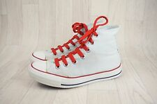 Ladies Converse All Star White Grey Canvas Hi Top Trainers Size UK 4.5