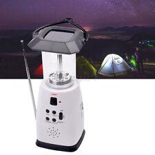 LED Outdoor Camping Lantern Lamp Flashlight FM Radio Phone Charger Solar battery
