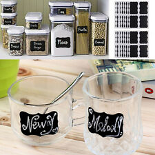 New 36x Cheap Small Chalkboard Chalk Black board Mason Jar Labels Stickers Tags