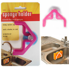 Sink Sponge Holder Plastic Kitchen Washing Suction Cup Sink Fit Tub Dish Clean