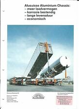 Truck Trailer Brochure Alusuisse Aluminum Chassis Product Overview DUTCH (T1937)