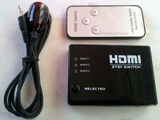 HDMI 3 volte AUTO SWITCH COMMUTATORE M. TELECOMANDO FULL HD 3 in 1 SPLITTER OUT