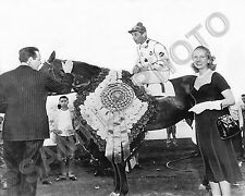 NASHUA 1955 PREAKNESS AND BELMONT STAKES CHAMPION 8X10 HORSE RACING PHOTO