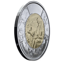 2015 $2 Two Dollar Of Canada Remembrance FLANDERS FIELD UNC Toonie, No Tax