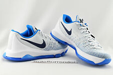 Nike KD 8 - Size 10 - NEW - 749375-144 Home White Navy Blue Kevin Durant VI