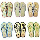 Women's Sandals Flip Flops Bamboo Beach Summer Shoes Thongs Flats Slipper, Sizes