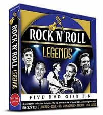 ROCK 'N' ROLL LEGENDS 5 DVD GIFT TIN - SOUL, 60s, LOVE SONGS, GREATS & MORE