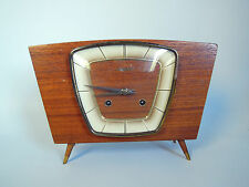 DUGENA MECHANIC MOVEMENT DESK CLOCK MID CENTURY MODERN HERMLE ART DECO BAUHAUS