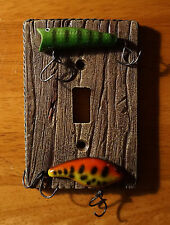 FISHING TACKLE SINGLE TOGGLE LIGHT SWITCH PLATE COVER SWITCHPLATE CABIN DECOR