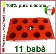 STAMPI in SILICONE 11 BABA' STAMPO DOLCI DOLCE DESSERT PASTICCERIA FORMINE FORME