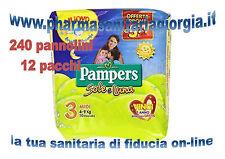 240 PANNOLINI PAMPERS SOLE E LUNA TAGLIA 3 MIDI(4-9KG) 12 PACCHI DA 20 PZ. CAD.