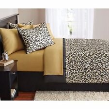 Bedding Set For Teens Full Size Bed In A Bag Microfiber Comforter Cheetah Animal