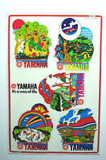 5 x YAMAHA Original Decals for YAMAHA Motorcycles Adverts Label Printed in Japan