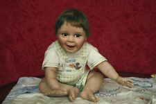 Ashton Drake All Porcelain Doll HANDLE WITH CARE Baby w/ Blanket Bird & COA 4lb
