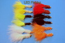 12 x LONGSHANK FRITZ GOLDHEAD LURES ASSORTED FLIES SIZE 10 BY AQUASTRONG (113)
