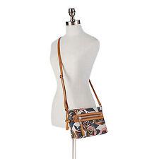 NEW Fossil Dawson Fabric Crossbody Floral Coated Canvas Purse Bag ZB6591919 NWT