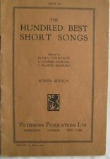 The Hundred Best Short Songs Book III School Edition  Elena Gerhardt