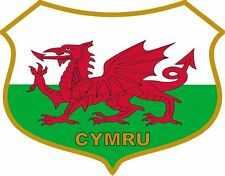 Welsh Dragon Flag Caravan Scooter Exterior Vinyl Stickers Wales Cymru Decals