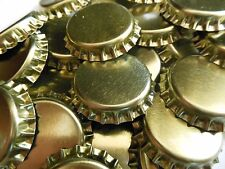 50 Gold Crown Caps Standard 26.5 Size Soda Mead Beer Bottles Lined NEW Capping