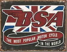 BSA The Most Popular Motorcycles In The World British Nostalgic Tin Metal Sign