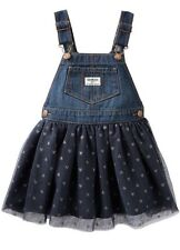 OSH KOSH Girls Sparkle Navy Overalls Jumper Skirt Size 2T New